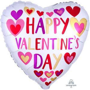 45cm Foil Balloon - Happy VALENTINES Day