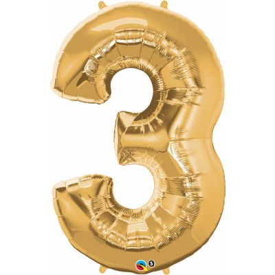 SuperShape Numbers GOLD #3