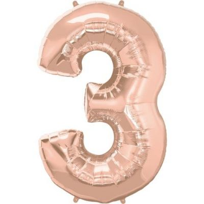 SuperShape Numbers ROSE GOLD #3