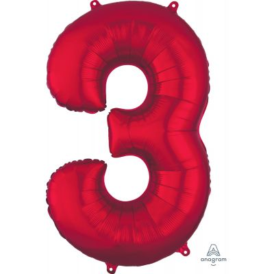 SuperShape Numbers RED #3
