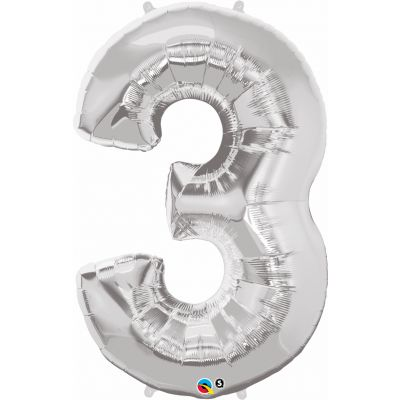 SuperShape Numbers SILVER #3