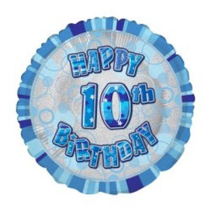 45cm Foil Balloon - 10TH BIRTHDAY