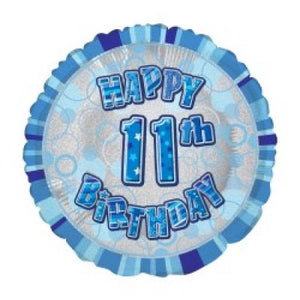 45cm Foil Balloon - 11TH BIRTHDAY