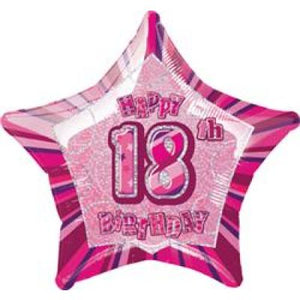 45cm Foil Balloon - HAPPY 18th BIRTHDAY PINK