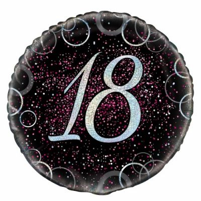 45cm Foil Balloon - 18th BIRTHDAY PINK