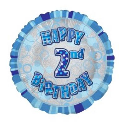 45cm Foil Balloon - 2ND BIRTHDAY