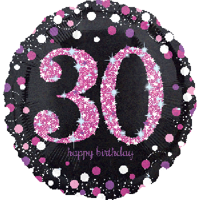 45cm Foil Balloon - 30th BIRTHDAY PINK