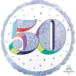 45cm Foil Balloon - 50th BIRTHDAY