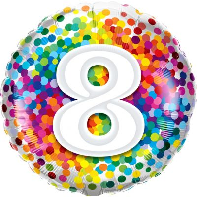 45cm Foil Balloon - HAPPY 8TH BIRTHDAY