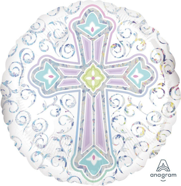 45cm Foil Balloon - RELIGIOUS CROSS
