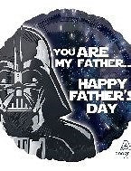 45cm Foil Balloon - HAPPY FATHERS DAY - STAR WARS