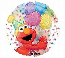 45cm Foil Balloon - CLEAR ELMO