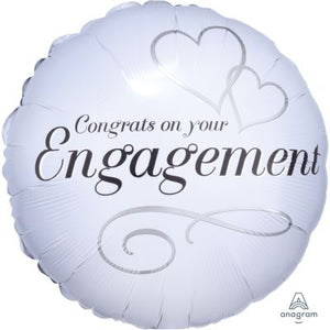 "45cm Foil Balloon - ""Congrats on Your Engagement"""