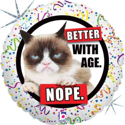 45cm Foil Balloon - HAPPY BIRTHDAY (GRUMPY CAT)