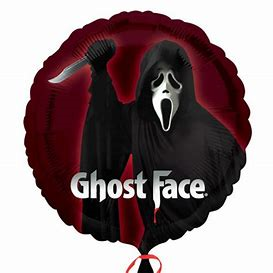 45cm Foil Balloon - GHOST FACE