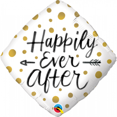45cm Foil Balloon - Happily Ever After