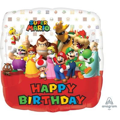 45cm Foil Balloon - SUPER MARIO BROTHERS