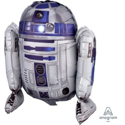 45cm Foil Balloon - SITTING R2-D2 STAR WARS - AIR FILLED