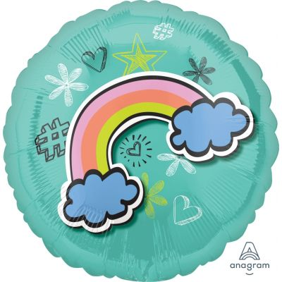 45cm Foil Balloon - SELFIE CELEBRATION RAINBOW