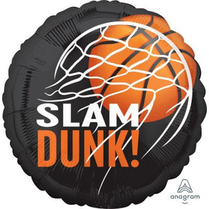 45cm Foil Balloon - BASKETBALL SLAM DUNK