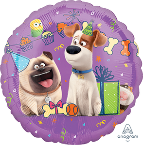 45cm Foil Balloon - SECRET LIFE OF PETS 2