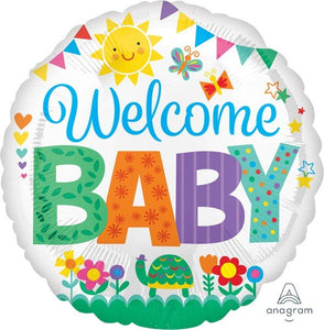 45cm Foil Balloon -  WELCOME BABY