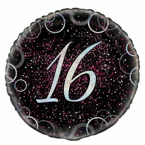 45cm Foil Balloon - 16th BIRTHDAY PINK