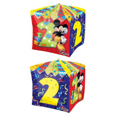 CUBEZ Balloon Bubbles - MICKEY MOUSE 2ND BIRTHDAY