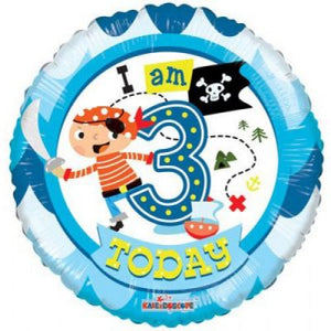 45cm Foil Balloon - 3RD BIRTHDAY