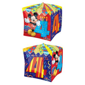 CUBEZ Balloon Bubbles - MICKEY MOUSE 4TH BIRTHDAY