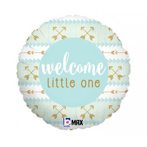 45cm Foil Balloon - WELCOME LITTLE ONE (Boy)