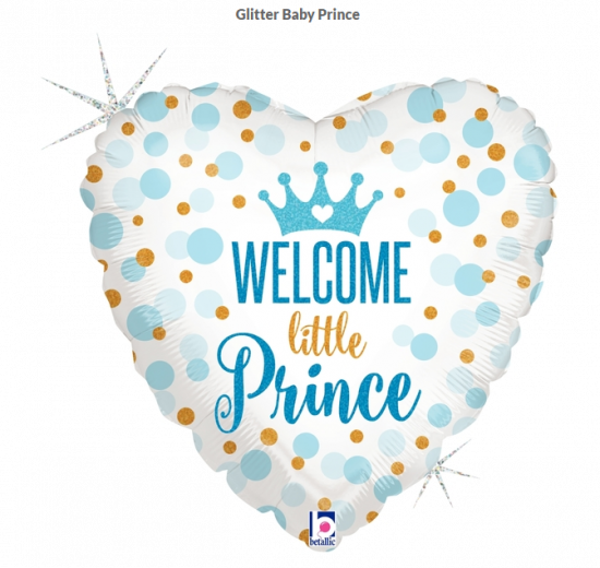 45cm Foil Balloon - WELCOME PRINCE