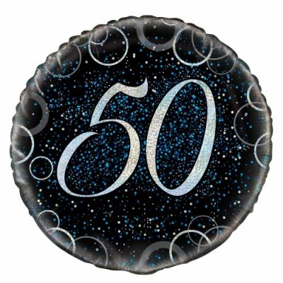 45cm Foil Balloon - 50th BIRTHDAY (Blue)
