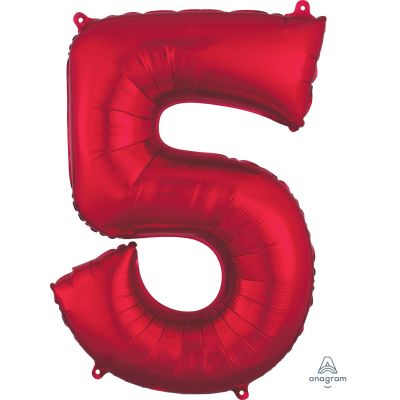 SuperShape Numbers RED #5