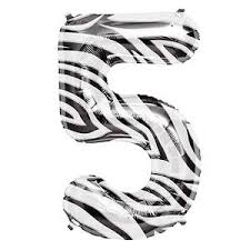 SuperShape Numbers ZEBRA #5 (DELETED LINE)