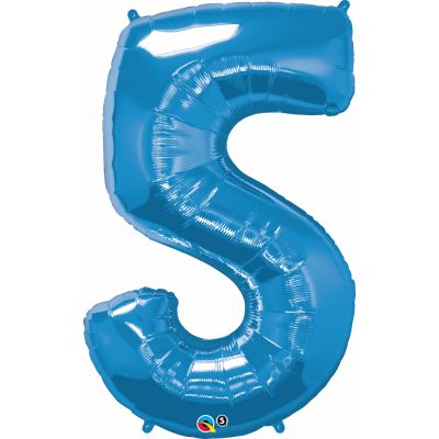 SuperShape Numbers BLUE #5