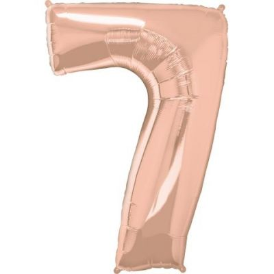 SuperShape Numbers ROSE GOLD #7