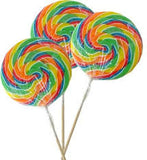 Sweet World SWIRL POPS - SOUR Rainbow - Medium 80gm