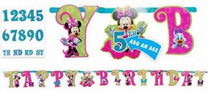 Jumbo Letter Banner Kit (add on age)  - MINNIE MOUSE