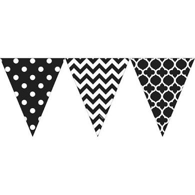 Bunting Flags (Pennant Banners) - BLACK