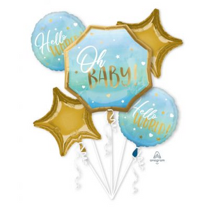 Balloon Bouquet - OH BABY - BLUE