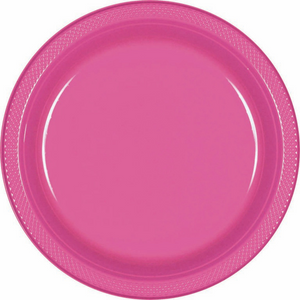 Bright Pink - Plastic Plate 17cm