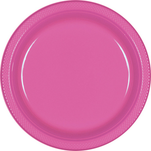 Bright Pink - Plastic Plate 28cm