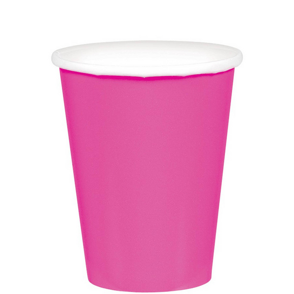 Bright Pink - Paper Cups