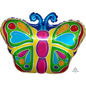 JNR SHAPE Foil Balloon - BUTTERFLY