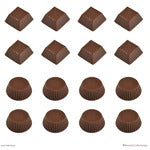 Roberts Chocolate Moulds - CHOCOLATE TRUFFLE CUPS