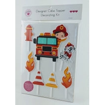 Acrylic Cake Topper - FIRE TRUCK KIT 7PC