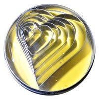 HEART cutters - Set of 7 (Tin)