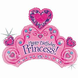 SuperShape Foil - CROWN/TIARA BIRTHDAY PRINCESS