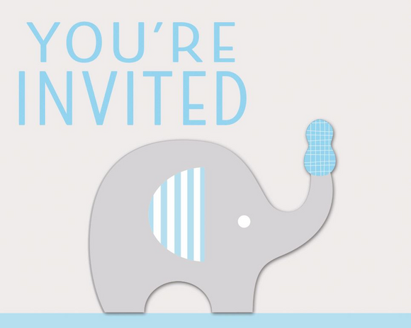 Party Invitations - BABY BOY (deleted line)